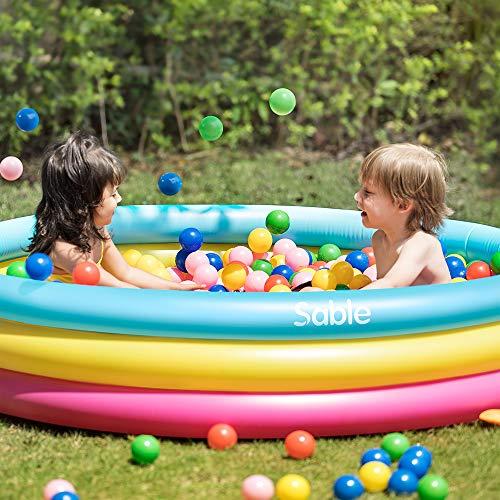 Sable Aufblasbarer Pool farbig, Swimmingpool für Kinder ab 3 Jahren