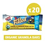 Clif Kid ZBAR Filled - Organic Granola Bars - Banana Chocolate with Peanut Butter - (1.06 Ounce Lunch Box Snacks, 20 Count)