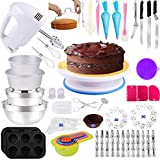 Cake Decorating Supplies 238 PCS Baking Set with Electric Hand Mixer...