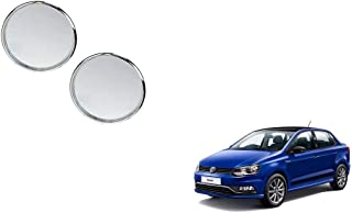 Autoladders Chrome Blind Spot Mirror Set of 2 for Volkswagen Ameo
