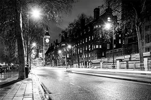 Rompecabezas De 1000 Piezas Londres, Big Ben, Blanco Y Negro, Juego De Rompecabezas Para Adultos, Rompecabezas, Juguetes, Juego De Regalo, 75x50cm
