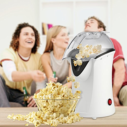 Best Buy! Popcorn Machine 1200W Hot Air Popcorn Popper Electric Maker for Home with On Off Switch, N...