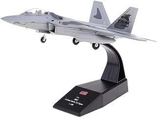 IPOTCH Avión De Combate F-22 Raptor - 2005 - Avión De Metal Fundido A Presión 1: 100, Incluye Soporte De Aleación