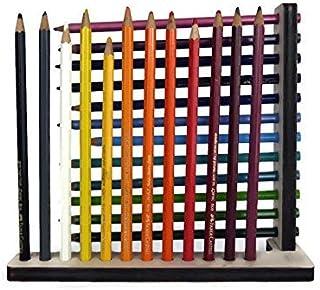 Portamatite da scrivania verticale in legno tagliato a laser personalizzabile pioppo Porta matite con forma strana colorat...