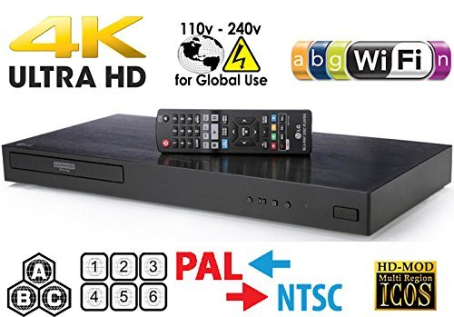 Great Features Of LG UHD - Dual HDMI - 2D/3D - Wi-Fi - 2K/4K - RegionFree Blu Ray Disc DVD Player - ...