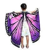 QinMM Kind Baby Mädchen Schmetterlingsflügel Pixie Poncho KostümzubehörVon (Lila)