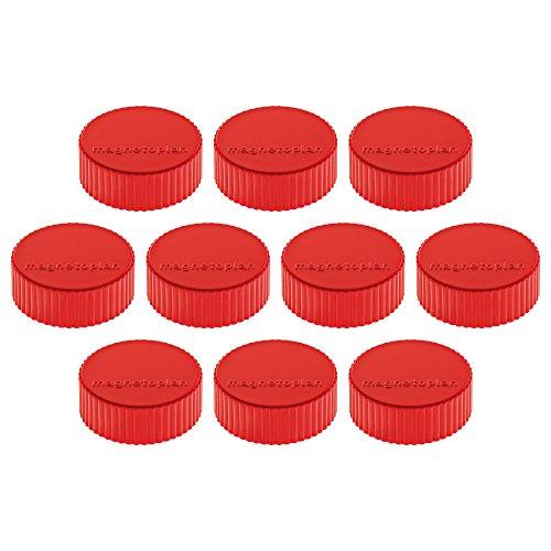 Magnethalter Magnum, Durchmesser 34 x 13 mm, 10 Stück, rot