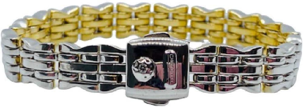 Chimento,bracciale per donna,in oro bianco e oro giallo 18kt(28,90 gr) con diamante 0,03 ct 1B00732ZBA195