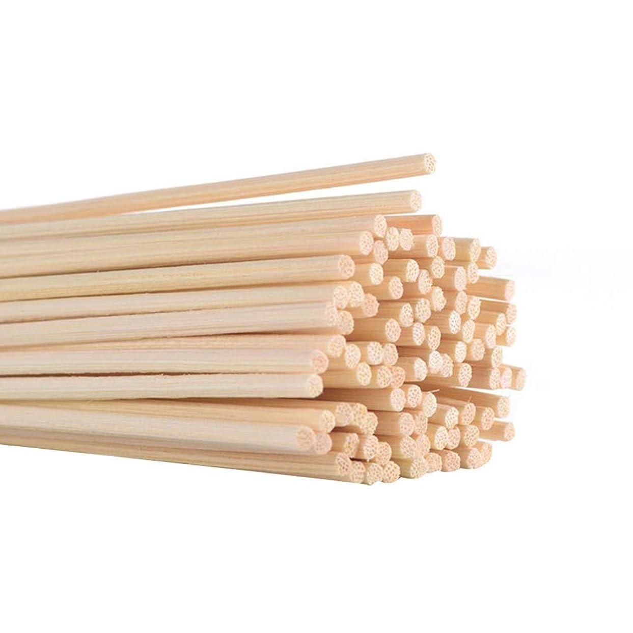 最小お尻コレクション120PCS ディフューザースティック リードスティック 香りの拡散器 自然な藤のリード 籐リードスティック アロマオイルディフューザー 芳香の精油の拡散器 籐スティック 交換用スティック