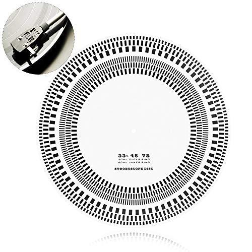 Mavis Laven Profesional LP platenspeler Phono snelheidsmeter kalibratie stroboscoop disc voor LP platen, amateurs