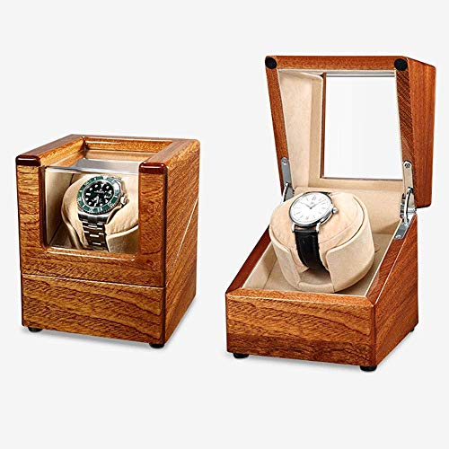 Caja Enrolladora Automática para Relojes Caja A Prueba De Polvo Caja Enrolladora Automática De Cuero para Un Solo Reloj Bobinado [100% Hecho A Mano]