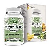 Vitamina B6 P-5-P 40mg di VITA1 • 60 capsule (fornitura per 2 mesi) • nella sua forma attiva di coenzima P-5-P • Fatto in Germania