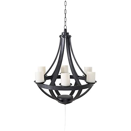 Hofzelt Gazebo Light For Outdoor Battery Powered Chandelier With Remote Control Hanging Candelabra Patio Lighting Electronics