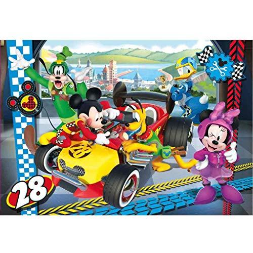 Clementoni- Mickey Roadster Racers Supercolor Puzzle, 104 Pezzi, 27984