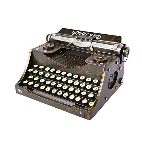 YXS Old Fashioned Typewriter, Wedding Valentine Xmas Gift,Old World Christmas,House Collection,Home/Office/Study Room Décor Decoration (Typewriter)