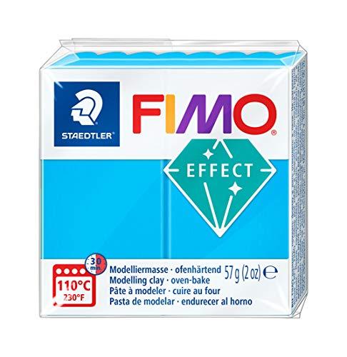 Staedtler - Fimo Effect - Pain Pte à Modeler 57 g Effet Translucide Bleu