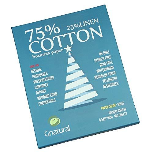 75% cotton 25% linen paper,85gsm inkjet printing paper,8.5″x11″...