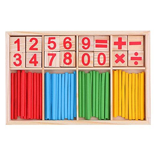 OFKPO Material Educativo Matemático Stick de Madera para Niños Ayudas a la Enseñanza de Matemáticas para el Jardín de Infantes