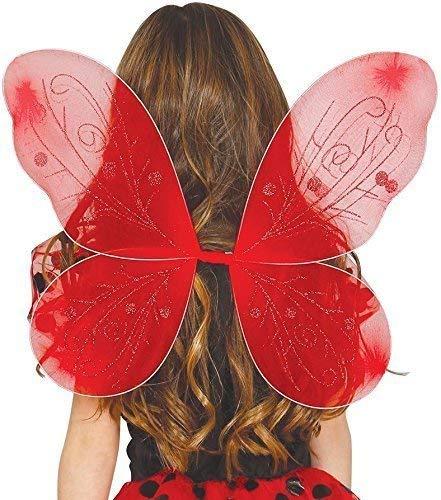 pour Enfants Filles Insecte Mini Bête Fée Aile Papillon Costume Déguisement Accessoire - Rouge