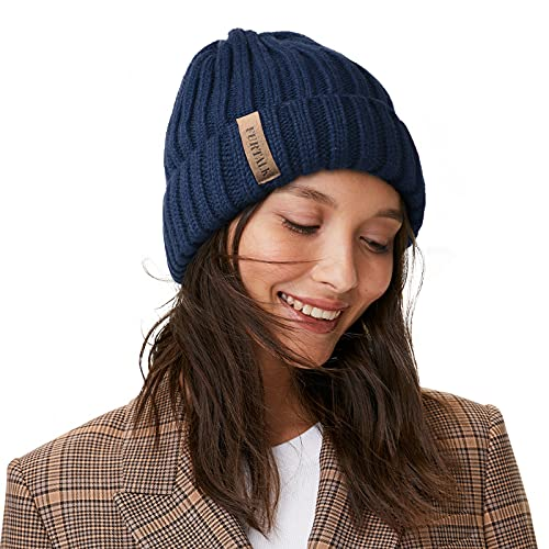FURTALK Knit Beanie Hats for Women Men Double Layer Cotton Lined Chunky Winter...