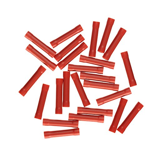 Haupa BLV260350 Stoßverbinder isoliert 0, 5 - 1 mm², rot, 25 Stücke