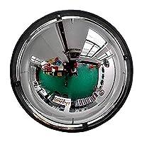 PXY 視野を拡大凸面安全ミラートラフィックミラー屋外交通広角レンズ、凸面ミラー、パノラマドーム凸面ロードミラー、360度の視野角、アクリル安全ミラー、および保護,40Cm(16インチ)