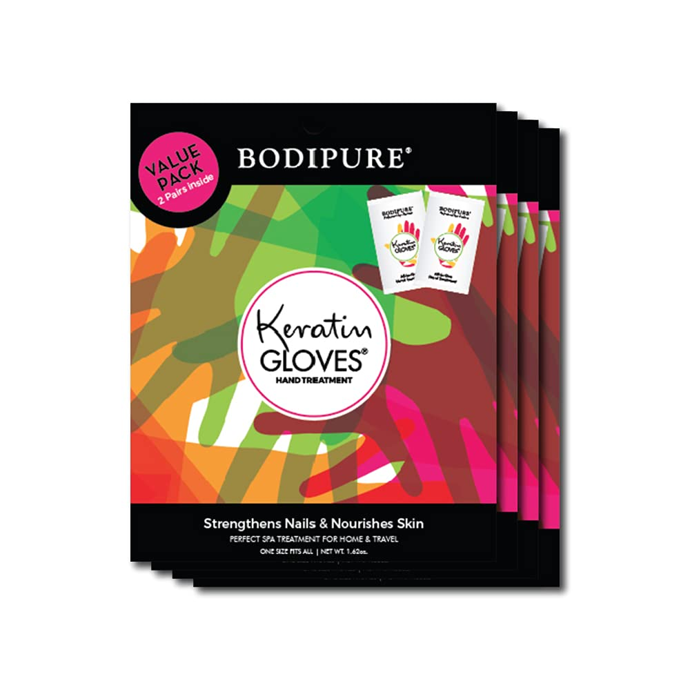 BODIPURE 4 Packs Keratin Max 63% OFF Gloves Nourishing Soo Credence Double for Value