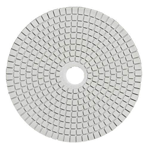 KingBra mokry granit diamentowe podkładki do polerowania 150 mm do szlifierek betonowych marmur blat podłoga szkło kwarc polerowanie (ziarnistość 3000)