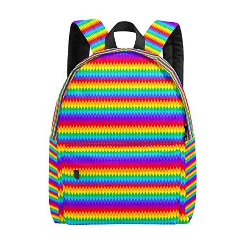 Zaino da donna, modello 01 con pixel colorati, per il tempo libero, borsa da viaggio leggera