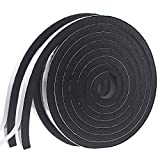 Weather Stripping Door Seal Strip for Doors and Windows, Foam Insulation Tape Self Adhesive,Sound Proof,Weatherstrip,Pipe Cooling, Air Conditioning Seal Strip (W:1In xT: 4/5In XL: 16.5Ft x 2 Roll)