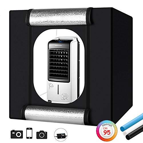 Heorryn Professional Photo Light Box, 32x32x32 Inches Portable Photo Studio Box Folding Shooting...