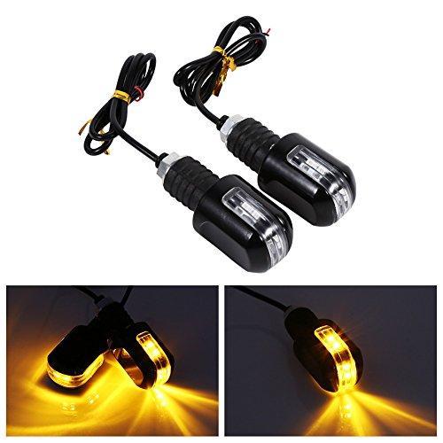 VGEBY Feux De Signal Clignotant Indicateur Moto Universel 6 LED Lampe Témoin 12V Lumière Ambre