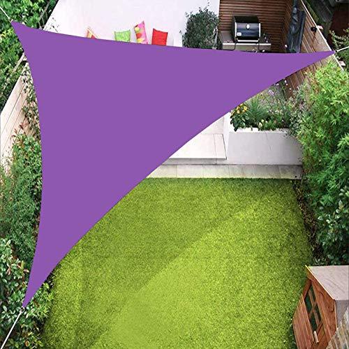 Toldo impermeable YTQ para toldo de jardín, patio, piscina al aire libre, con ojal y tres cuerdas de 2,4 x 2,4 x 2,4 m (color: púrpura)