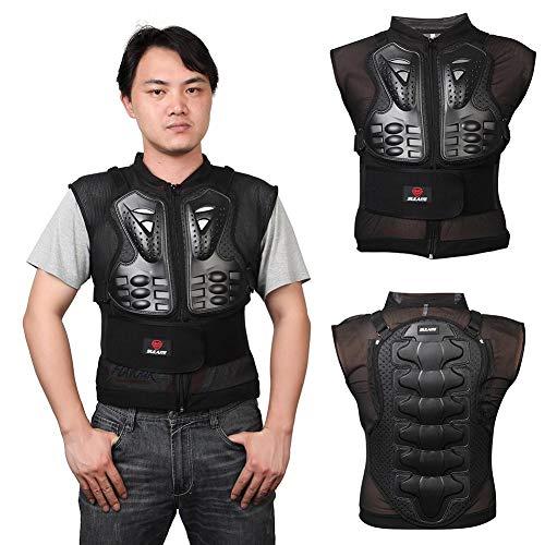 Katurn Motorrad-Schutzweste, Sport Motocross MTB Racing Ärmellose Rüstung Weste, Erwachsene Dirt Bike Body Brust Rückenprotektor, M