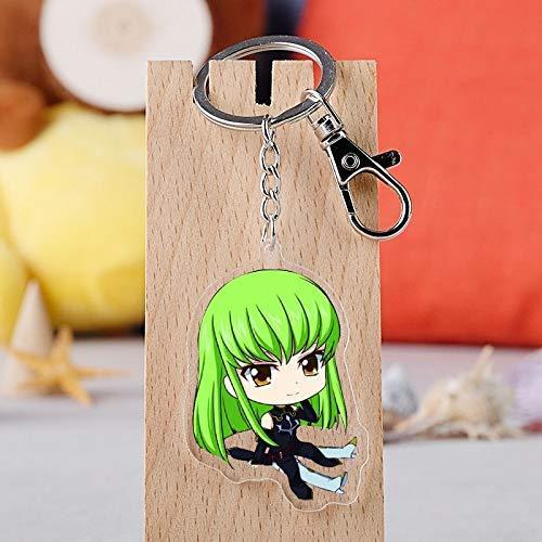 AMITD Schlüsselbund Schlüsselring Japanischer Anime Code Geass Gaiden Lelouch Acryl Schlüsselbund Cartoon Figur Schlüsselring