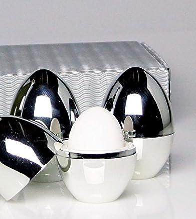 Preisvergleich für Eierwärmer, Warmhalte-Eierbecher 4er-Set in Geschenkverpackung: Diese Eierbecher halten Frühstückseier warm und sind ein praktischer Hingucker . Produktionsbedingt weisen sie zum Teil leichte Lackfehler auf.
