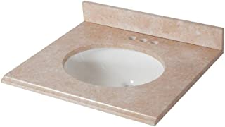 St. Paul 25 in. x 22 in. Stone Effects Vanity Top in Oasis