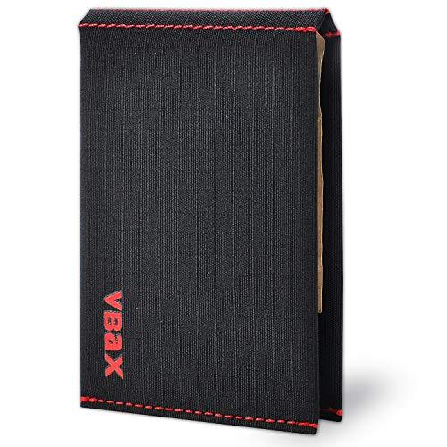 Mikrofaser-Geldbörse, wasserdicht, schmal, mit minimalistischem RFID-Fronttasche, Kreditkartenetui, Doyel (Schwarz) - Ebax-V6