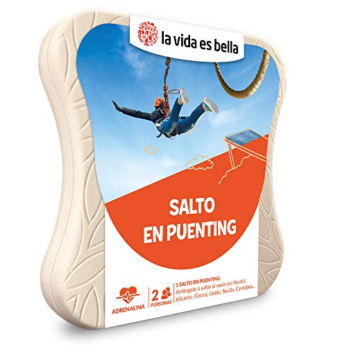 LA VIDA ES BELLA - Caja Regalo para Hombres - Salto en Puenting - Caja Regalo para Hombres - 1 Salto en Puenting para 2 Personas
