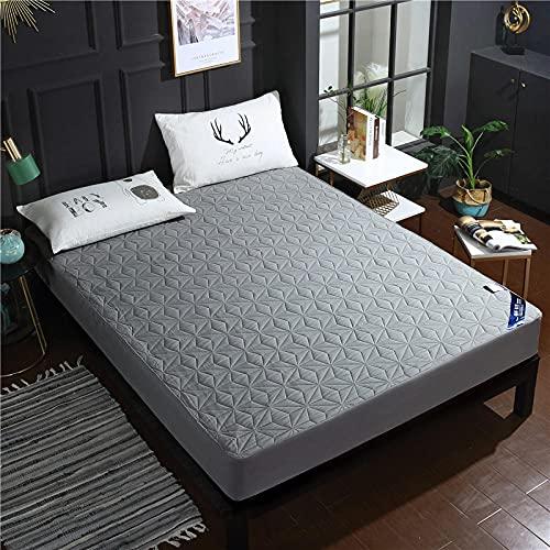 CYYyang Funda colchón Microfibra, elástica y Ajustable, Sábana Impermeable Color Puro orina-Gris_90 * 200cm