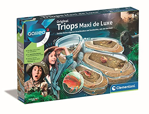 Clementoni 59246 Galileo Lab – Original Triops Maxi de Luxe, Züchten & Beobachten von Urzeitkrebsen, Spielzeug für Kinder ab 8 Jahren, neues Modell 2021, Biologie zu Weihnachten