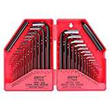 SEDY Hex Key Wrench Set, 32-Piece (0.028-3/8 inch, 0.7-10 mm) | SAE/METRIC Allen Wrench Set with Extension Bars