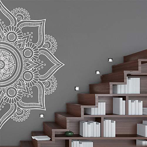 LSMYE Meditation Yoga Mandala Aufkleber Abnehmbare Vinyl Wandbild Poster für Kinderzimmer Wohnzimmer Home Decor Vinyl Wandbild Aufkleber Grün XL 57 cm x 114 cm