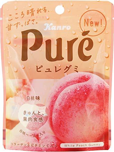 カンロ ピュレグミ白桃 56g ×6袋