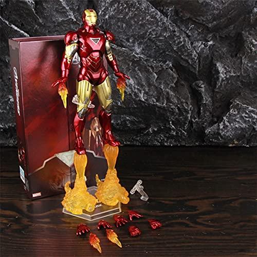 """LIANGLMY Figuritas Decorativas 2021 Classic Iron Man Mk6 Mark Vi 7""""Figura de acción de película Tony Stark Legends Toys Modelo Modelo (Color : B Boxed)"""