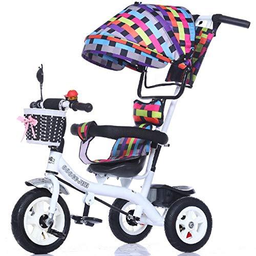 GWCD-STC Triciclos Triciclo Infantil Trolley 1-3-5 años Cochecito de bebé Bicicleta Bebé Cochecito de bebé con sombrilla Sillas de Paseo (Color : F)