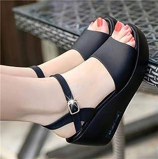 Wedge Sandals Summer Shoes Waterproof Platform Thick Bottom Buckle Non-slip High Heel Ladies Shoes