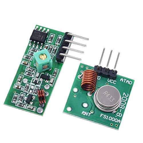 ZHOUYUFAN 433 MHz RF Wireless Transmitter Modul und Empfänger Kit 5 V DC 433 MHz Wireless für Raspberry Pi/ARM/MCU WL DIY Kit
