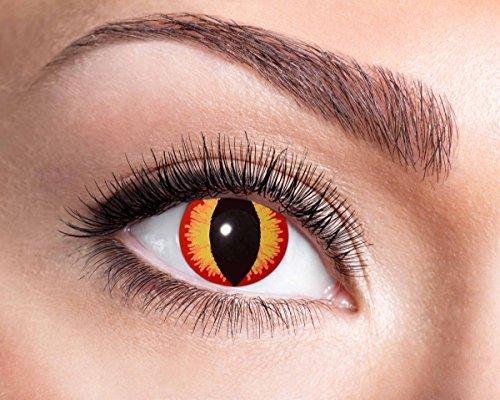 Saurons Eyes farbige Kontaktlinse, Jahreslinse, 14,5 mm ohne Dioptrin für Cosplay, Fastnacht, Club etc.