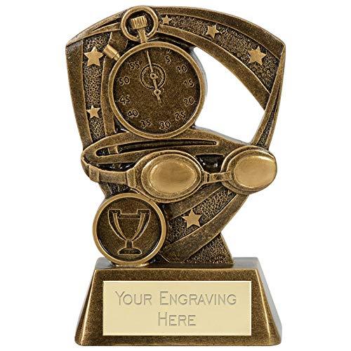 Womack Graphics A4031A - Trofeo da nuoto con incisione gratuita fino a 50 lettere